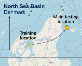 North sea tester location